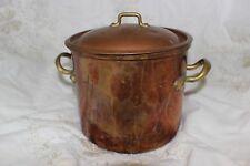 Pot en laiton de cuivre de cru Vintage copper brass marked PORTUGAL