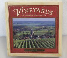 Hasbro Vineyards 750 Pc. Jigsaw Puzzle Sealed Wood Box Village of Villedommange