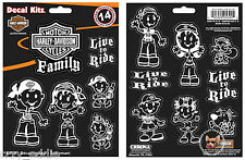 HARLEY DAVIDSON FAMILY REAR WINDOW DECAL KIT MADE IN USA