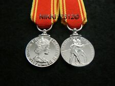 MINIATURE FIRE BRIGADE LONG SERVICE GOOD CONDUCT MEDAL LSGC EIIR SUPERB QUALITY
