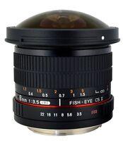 Rokinon HD 8mm F3.5 Ultra Wide Fisheye Lens for Canon, Nikon, Sony, Pentax +