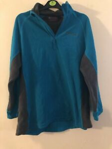 Mountain Warehouse multicoloured half zip long sleeved fleece size 18