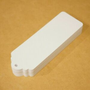 """Blank bookmarks 1.5"""" x 5"""" (50) thick white 100lb bristol paper bookmarks"""