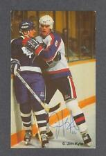 Jim Kyte signed Winnipeg Jets team issued hockey postcard