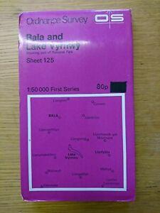 Landranger Map Bala and Lake Vyrnwy Wales Sheet Map 124 1974 Ordnance Survey
