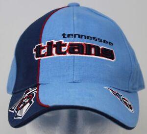 Vintage Tennessee Titans NFL Football Hat 2 Tone Blue Strapback Cap Adult 1 Size