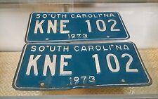 South Carolina License Plates PAIR Muscle Car Year 1973
