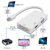 3 in 1 Thunderbolt to HDMI/DVI/VGA Adapter For Apple Macbook Pro Air Mac
