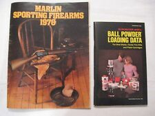1976 MARLIN SPORTING FIREARMS CATALOG and Winchester Ball Powder Loading Data
