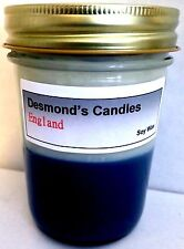 Desmond's Candles Homemade Scented England (Blueberry, Vanilla) Soy Jar Candle