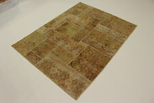 moderne Patchwork délavé look antique Tapis de Perse Tapis d'Orient 2,06 x 1,56