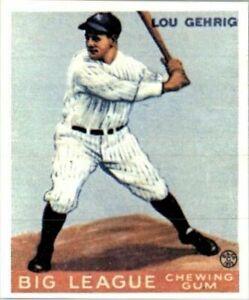 LOU GEHRIG 1933 Goudey Card #160 Reprints YANKEES