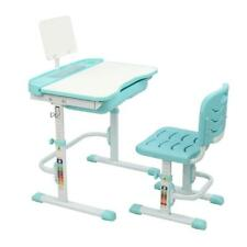Children's Desk Chair Set Height Adjustable Study Table Set Work Station Green