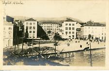Croatie, Split, Vue du port et la promenade, ca.1910, vintage silver print Vinta