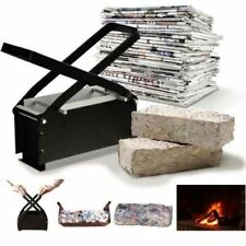 Heavy Duty Brick Briquette Maker Paper Log Waste Newspapers Free Heating Fuel