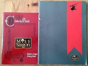 Individual Miss Saigon programmes 1980s-90s, Theatre Royal Drury Lane programme