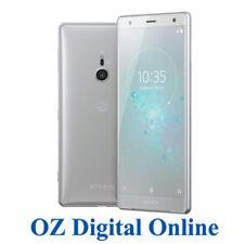 "NEW Sony Xperia XZ2 Dual H8296 64GB Silver 4G 19MP 5.7"" Unlocked Phone 1Yr AuWty"
