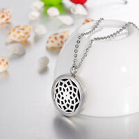 Stainless Steel Aromatherapy Essential Oil Diffuser Floral Style Locket Necklace