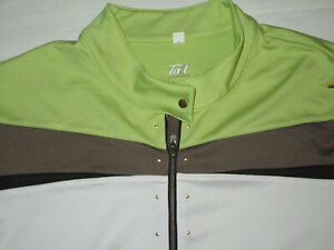 TAIL WOMEN'S GOLF TENIS SHIRT WHITE GREEN BROWN XL USED POLYESTER