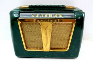 Vintage SENTINEL Tube Radio Model 312-P Green Marbled Case ~ Shell Only NO RADIO