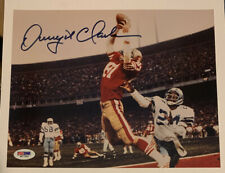 THE CATCH: DWIGHT CLARK 49ERS TE SIGNED 8x10 PHOTO AUTHENTIC TRISTAR COWBOYS