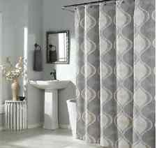 Graphic Edge fabric  Shower Curtain, Yellow/Grey