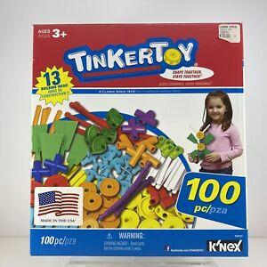 TINKERTOY 100 Piece Essential Set Preschool Kids Building Toys Classic COMPLETE