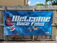 "Nascar Welcome Race Fans Vinyl Banner Sign 89x45"" Inches Long Jeff Gordon #24"