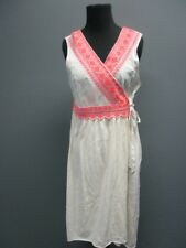 ODD MOLLY Cream Sleeveless V Neck Knee Length Causal Wrap Dress NWT Sz 3 EE1195