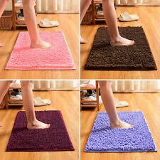 Soft Shaggy Chenille Bathroom Carpet Mat Bedroom Floor Mat Rug Anti-slip Rug