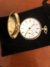 Huguenin 18k Ladies Pocket Watch Hunter Case
