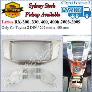 Fascia facia Fits Lexus RX330 RX350 RX 2003-2009 Double Two 2 DIN Dash Kit