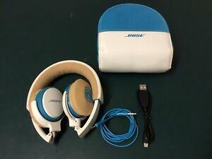 Bose Soundlink Headphones Bluetooth, Blue And White