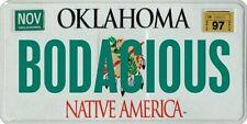 Bodacious Rodeo Bull 1997 Oklahoma License plate