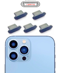 5x CHARGING PORT DUST COVER PLUG SILICONE for IPHONE 13 / 13 MINI / 13 PRO MAX