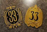 New and Old Club 33 Inspired Sign / Plaque Bundle Set ( Disney Prop Inspired )