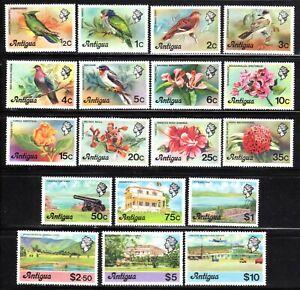 1976 Antigua SC# 405-422 - Birds, Flowers, Nature - M-H