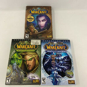 Lot World of Warcraft PC AND Burning Crusade Lich King Expansions