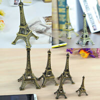 8cm Bronze Tone Paris Eiffel Tower Figurine Statue Vintage Model Decorating