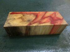 FF- FLAME BOX ELDER BURL  DELUXE KNIFE BLOCK/SCALES/ CALLS/ PEN BLANKS--F--2