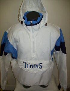 TENNESSEE TITANS NFL Starter Hooded Half Zip Pullover Jacket M XL  WHITE