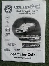 2006 RED DRAGON  rally programme