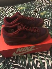 Mens Nike Air Max 1 Ultra Flyknit Size 9 Purple/Red(Burgundy) EXCLUSIVE
