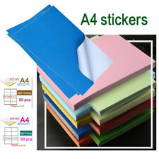 Laser Inkjet Print A4 Paper White Self Adhesive Sticker Paper Sheet Label Lot