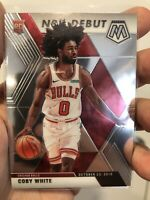 2019-2020 Coby White Panini Mosaic NBA Debut #264 Chicago Bulls RC Rookie Card