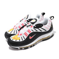 Nike Air Max 98 Chrome Yellow Bright Crimson Black White Men Shoes 640744-016