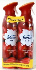2 Count Febreze Air 8.8 Oz Limited Edition Fresh Pressed Apple Air Refresher