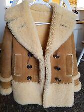 NWT Coach Women Sheepskin Shearling Peacoat Honey Leather Jacket 86159 XXS