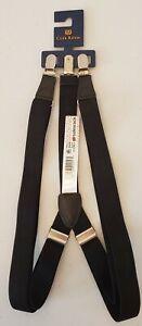 Club Room Black Suspenders.  Fits All.