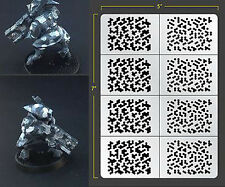 INFANTRY HEX CAMO ADHESIVE AIRBRUSH STENCIL WARGAMING FALLOUT HOBBIES PDT